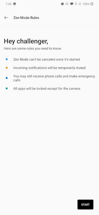 how to use oneplus zen mode using 3