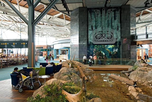 best airports for layovers vancouver international airport aquarium and creek 1
