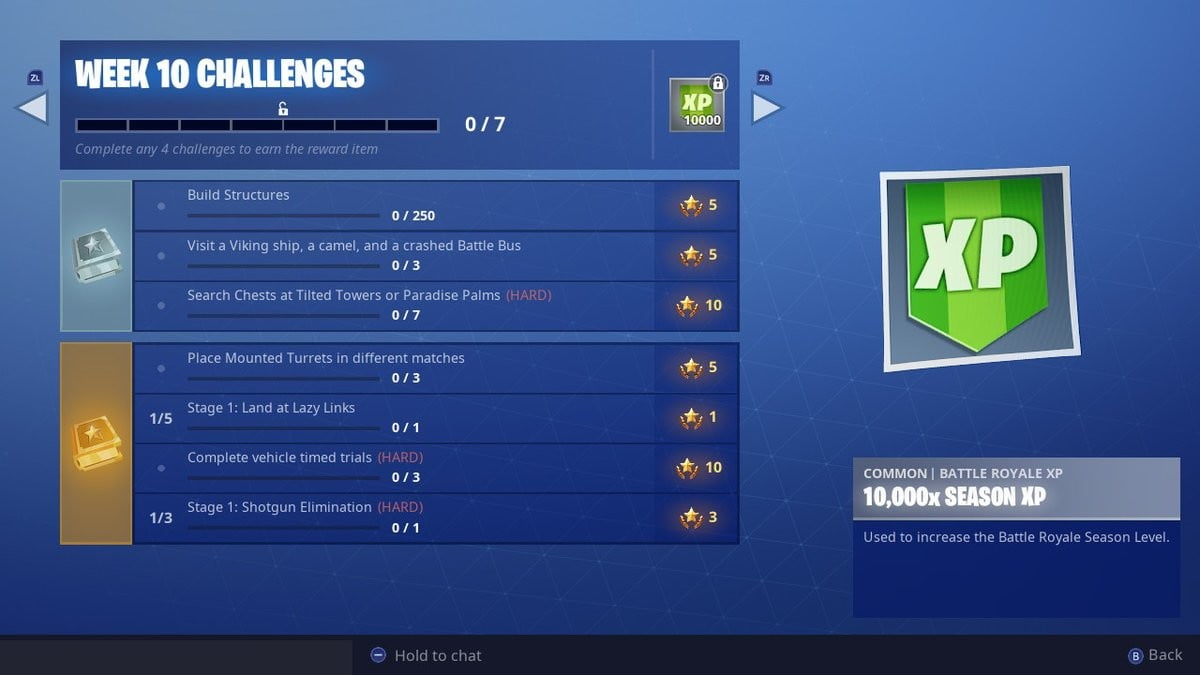 fortnite week 10 challenges vehicle timed trials