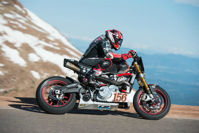 victory motorcycles empulse rr takes first at pikes peak project 156