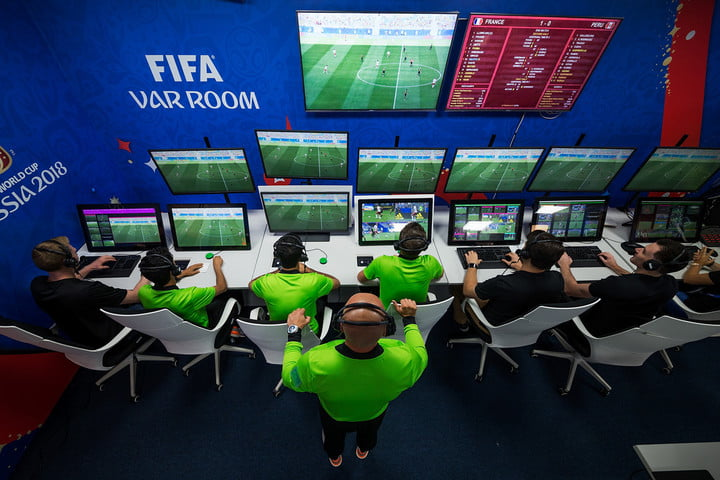 2018 world cup var video assistant refereeing  room fifa russia