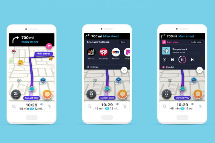 waze new audio player wants to make your commute more bearable