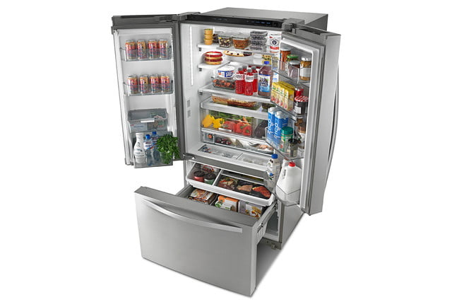 whirlpools smart appliances work with nest and amazon dash whirlpool pantry inspired french door refrigerator p150437 5z