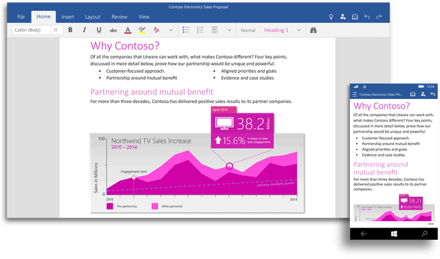 office 2016 and for windows 10 coming later this year word ui 1992x1172